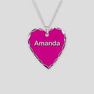 Amanda Pink Heart Necklace Charm