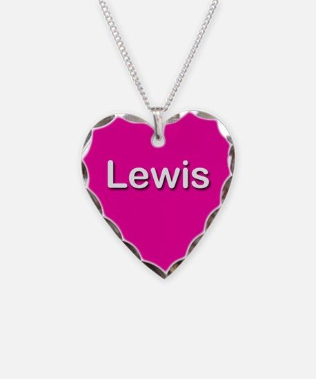 Lewis Pink Heart Necklace Charm