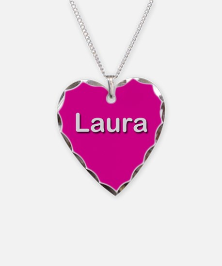Laura Pink Heart Necklace Charm