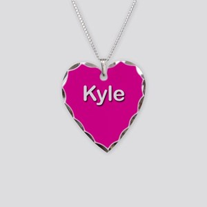 Kyle Pink Heart Necklace Charm