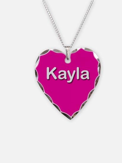 Kayla Pink Heart Necklace Charm