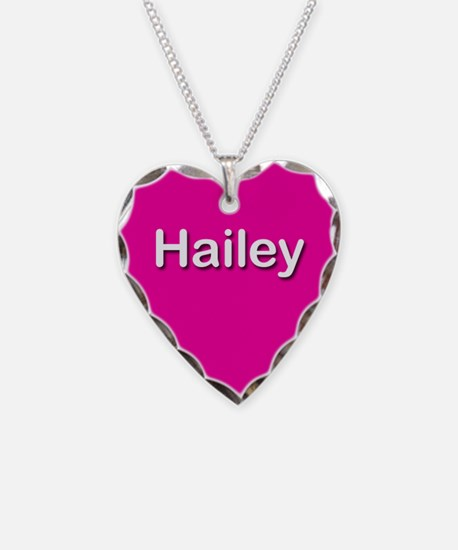 Hailey Pink Heart Necklace Charm