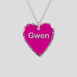 Gwen Pink Heart Necklace Charm