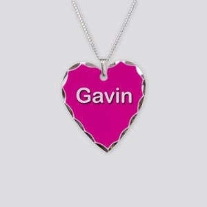 Gavin Pink Heart Necklace Charm
