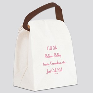Just Call Me Canvas Lunch Bag