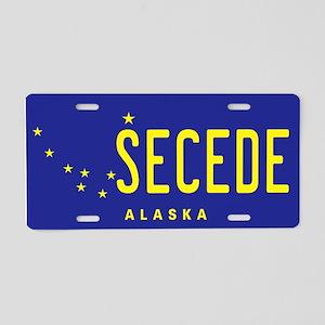 Secede - ALASKA Aluminum License Plate