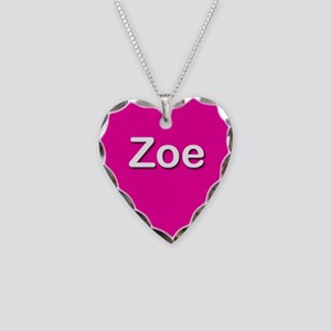 Zoe Pink Heart Necklace Charm