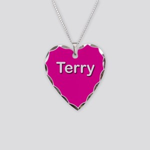 Terry Pink Heart Necklace Charm