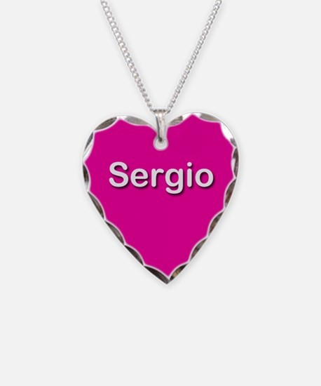 Sergio Pink Heart Necklace Charm