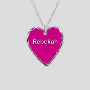 Rebekah Pink Heart Necklace Charm
