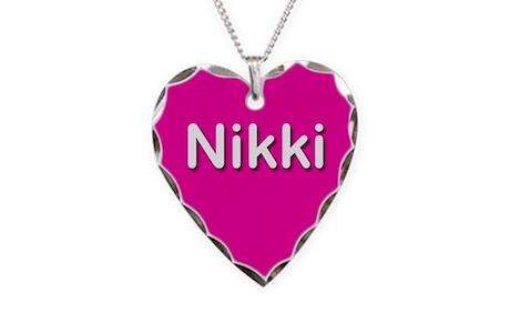 Nikki Pink Heart Necklace Charm