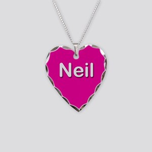 Neil Pink Heart Necklace Charm