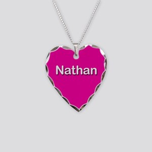 Nathan Pink Heart Necklace Charm