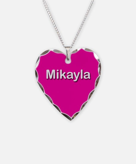 Mikayla Pink Heart Necklace Charm