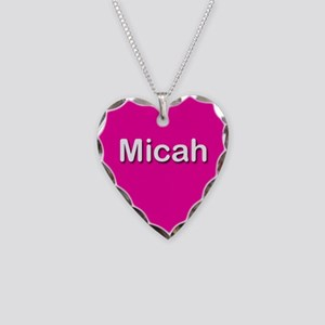 Micah Pink Heart Necklace Charm