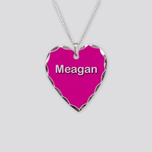 Meagan Pink Heart Necklace Charm