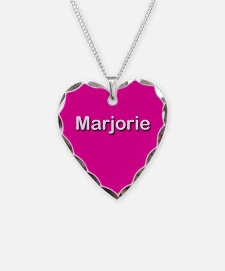 Marjorie Pink Heart Necklace Charm