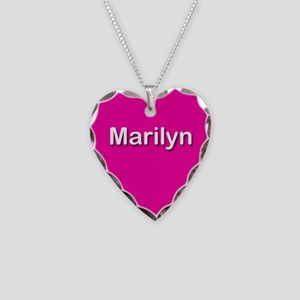 Marilyn Pink Heart Necklace Charm