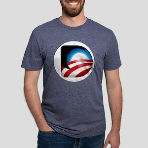 Button D Mens Tri-blend T-Shirt
