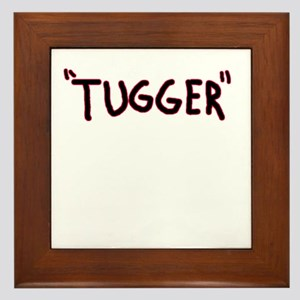 tugger boat shirt Framed Tile