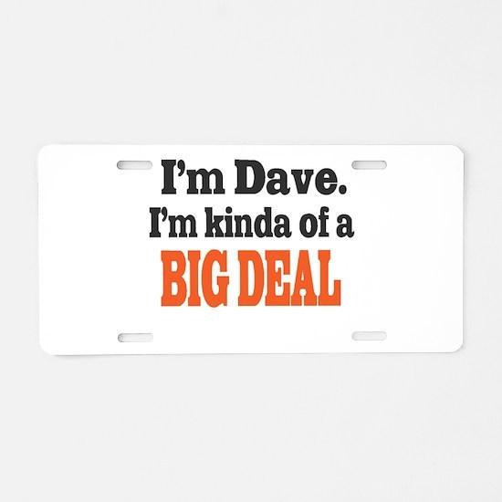Big Deal (Orange) Aluminum License Plate