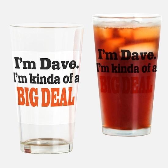 Big Deal (Orange) Drinking Glass