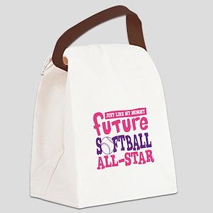 Future Softball All Star Girl Canvas Lunch Bag