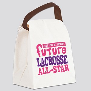Lacrosse Future All Star Girl Canvas Lunch Bag