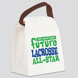 Lacrosse Future All Star Boy Canvas Lunch Bag