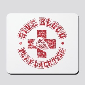 Lacrosse Give Blood Mousepad