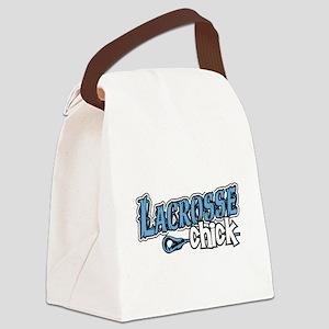 Lacrosse Chick Canvas Lunch Bag