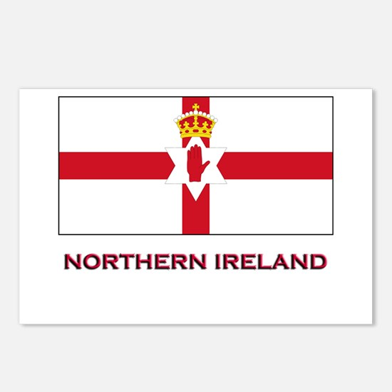 Northern Ireland Flag Gear Postcards (Package of 8