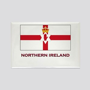 Northern Ireland Flag Gear Rectangle Magnet