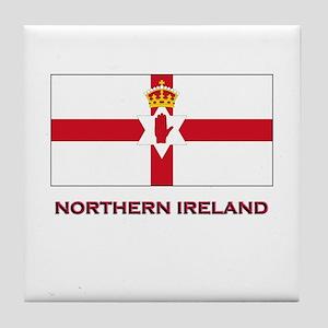Northern Ireland Flag Gear Tile Coaster