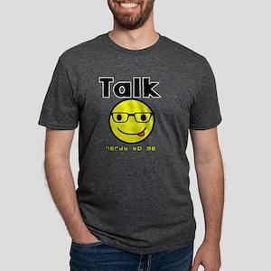 talk nerdy to me Mens Tri-blend T-Shirt