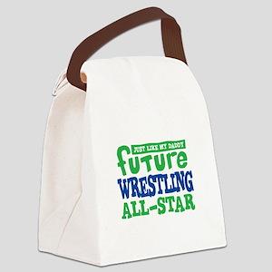 Future Wrestling All Star Boy Canvas Lunch Bag