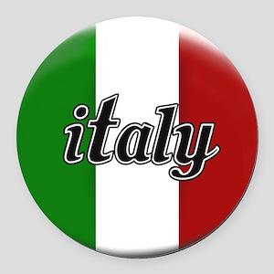 Italy Logo Round Car Magnet