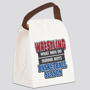 Wrestling What Men Do Canvas Lunch Bag