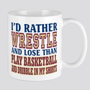 Wrestling Dribble In My Shorts Mug