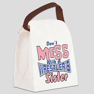 Wrestler's Sister Canvas Lunch Bag