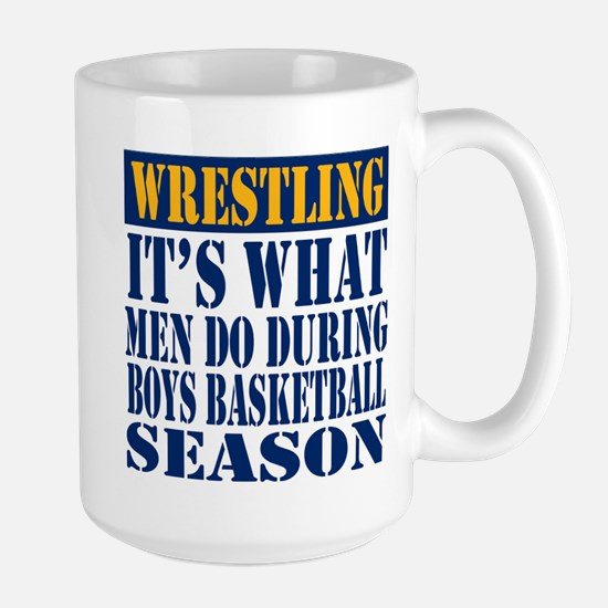 Boys Basketball Season Large Mug