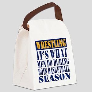 Boys Basketball Season Canvas Lunch Bag