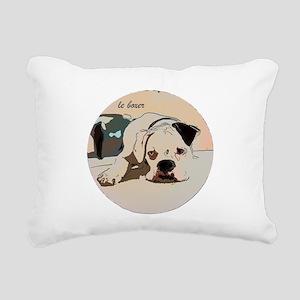 boxer1 Rectangular Canvas Pillow