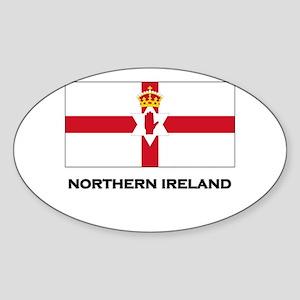 Northern Ireland Flag Merchandise Oval Sticker