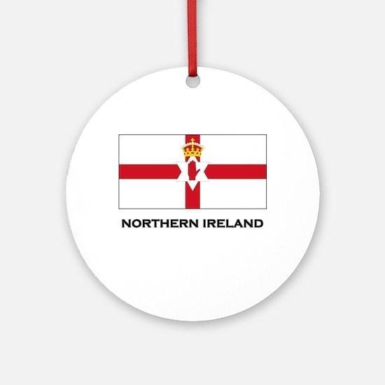 Northern Ireland Flag Merchandise Ornament (Round)