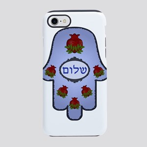 Hamsa Shalom Pomegranates iPhone 7 Tough Case