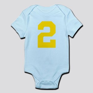 2 YELLOW # TWO Infant Bodysuit