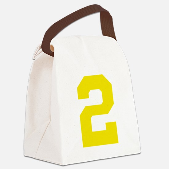 2 YELLOW # TWO Canvas Lunch Bag