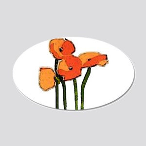 poppies 1 20x12 Oval Wall Decal