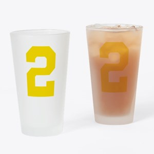 2 YELLOW # TWO Drinking Glass